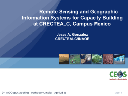Remote Sensing and Geographic Information Systems for