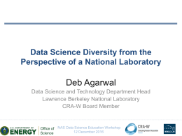 Data Science Diversity from the Perspective of Berkeley Laboratory