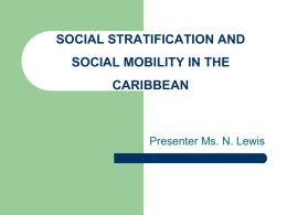 social stratification and social mobility in the caribbean