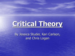 Critical Theory - Department of Sociology, Iowa State