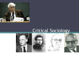 Part I: The Tradition of Positivism: Positivism, Sociologism and