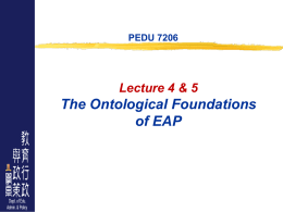 Ontological Foundations of EAP