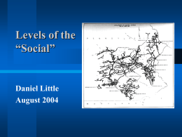 PowerPoint Presentation - Topics in the Philosophy of Social Science