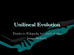 What is Unilineal Evolution in Anthropology?