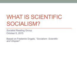 What is Scientific Socialism