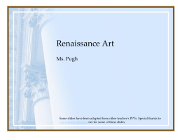 Renaissance History and Art
