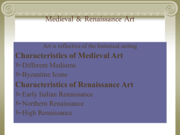 Medieval & Renaissance Art - Watt's History of the World