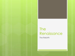 The Renassiance - Fredericksburg City Schools