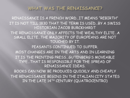 "renaissance is a french word…it means ""rebirth"""