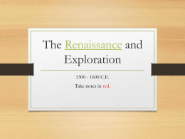 The Renaissance and Exploration - Reeths