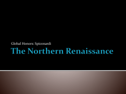 The Northern Renaissance - White Plains Public Schools