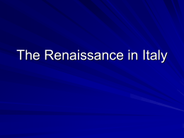 The Renaissance Spirit in Italy Chapter 8