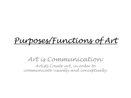 Purposes of Art