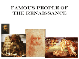 People of the renaissance