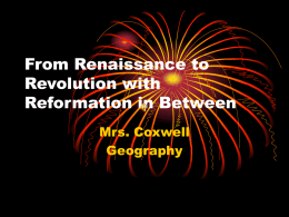 From Renaissance to Revolution with