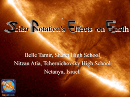Solar Rotation`s Effects on Earth