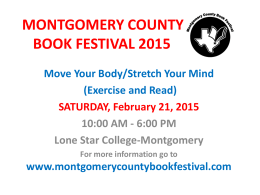 File - Montgomery County Book Festival