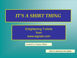 IT`S A SHIRT THING - The