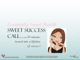 File - Essentially Sweet Health