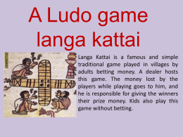 A ludo game- Shreya(1)