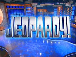 Jeopardy- FINAL COLD WAR
