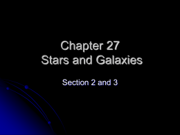 Chapter 27 Stars and Galaxies