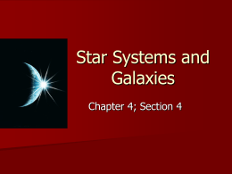 Star Systems and Galaxies
