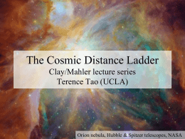Cosmic Distance Ladder Terrence Tao (UCLA)