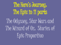 The Hero's Journey: The Epic in 13 parts