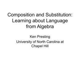 Composition and Substitution: Learning about Language from