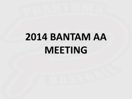2014 BANTAM AA MEETING