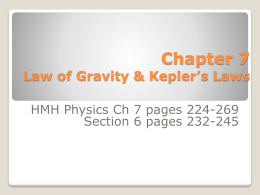 Chapter 7 Rotational Motion and the Law of Gravity