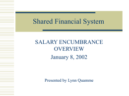 Shared Financial System - University of Wisconsin–Madison