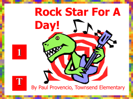 Rock Star For A Day!