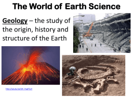 The World of Earth Science