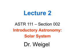Lecture 1 - Main Page - Weigel's Research and Teaching Page