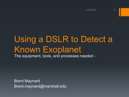 Using a DSLR to Detect a Known Exoplanet