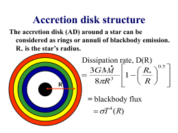 Accretion disk structure - Mullard Space Science Laboratory