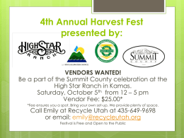 2nd Annual FREE Harvest Fest presented by: