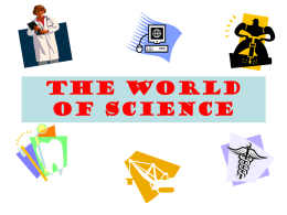 The World of Science - Portola Middle School