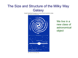 09 November: The Structure and Content of the Milky Way