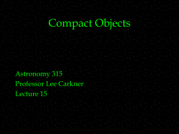 Compact Objects