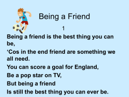 Being a Friend - Willerby Carr Lane Primary School