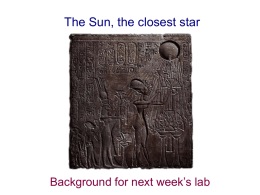 13 September: The Sun, the closest star