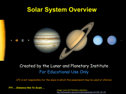 Solar System Overview - Lunar and Planetary Institute