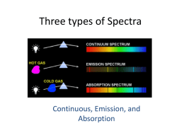 Three types of Spectra