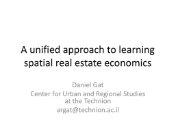 A unified approach to learning spatial real estate