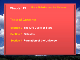Section 4 Formation of the Universe Chapter 19