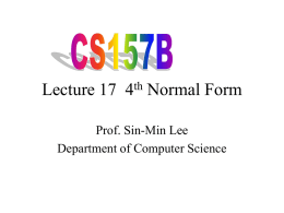 Lecture 17 - Department of Computer Science