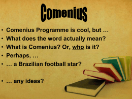 What is Comenius?